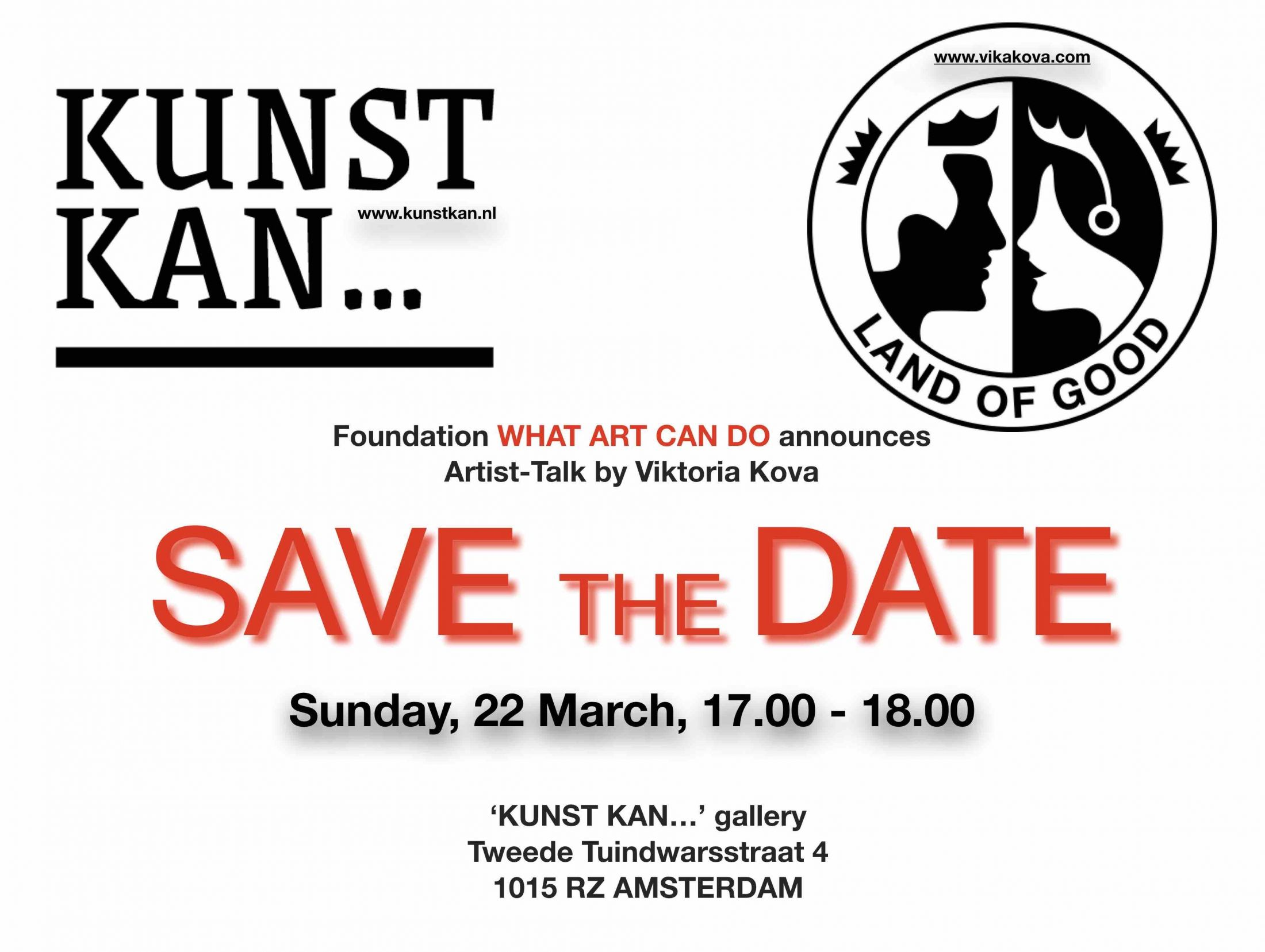 SAVE the DATE Artist Talk @ KUNST KAN gallery